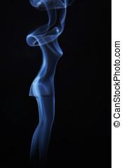 Image of beautiful madam made of smoke