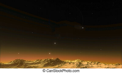 Image of beautiful Space with planets and stars