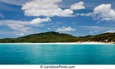 Image of Beautiful tropical island in the distance
