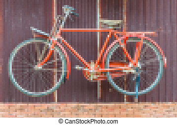 Image of bicycle abstract background, by mosaic filter