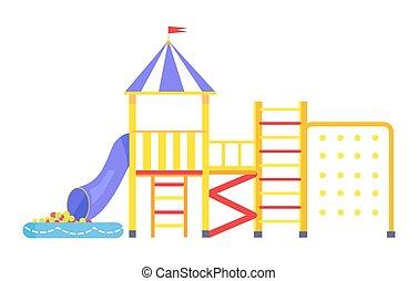Image of Big Bright Playground on White Background