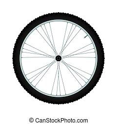 Bike wheel - vector illustration on white background