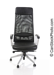 Image of black office chair. Isolated on white background