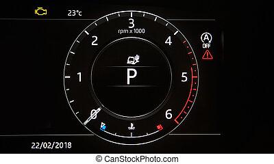 Image of brand new car tachometr