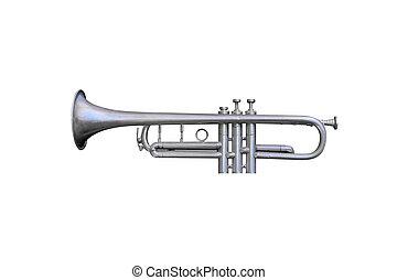 bugle isolated on white background