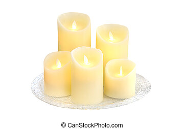 candles isolated on a white background