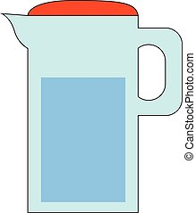 Image of carafe of water - water jug, vector or color ...