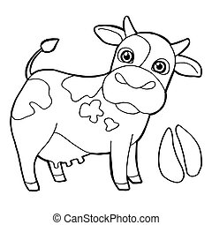 Cattle  with paw print Coloring Pag