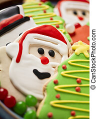 christmas biscuit close up