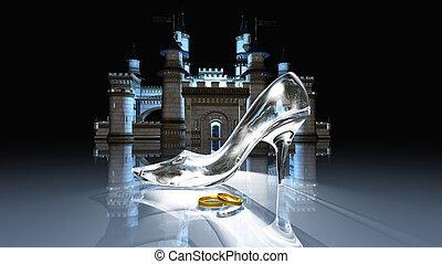 Cinderella castle - image of Cinderella castle and glass...