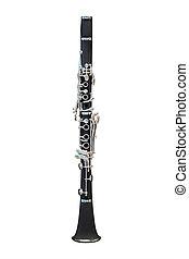 image of clarinet under the white background