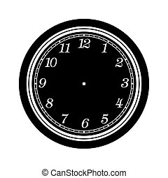 clock face blank isolated on white background