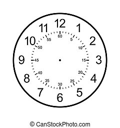 clock face blank isolated on white background - image of ...