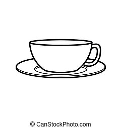 coffee cup vector - image of coffee cup vector isolate on...