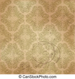 Seamless floral pattern in vintage