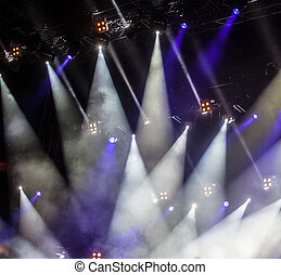 Image of colorful concert lighting