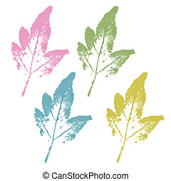 Colorful watercolor stamped vector