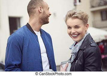 Image of couple in the city