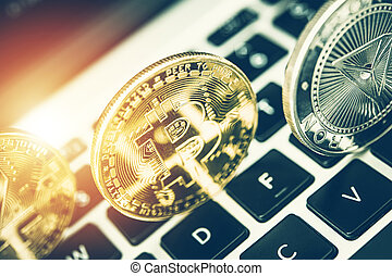 Image Of Crypto On Computer Keyboard. - View Of Transparent ...