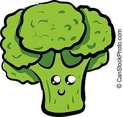 Image of cute broccoli - broccoli, vector or color...
