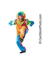 Image of cute clown showing thumbs up
