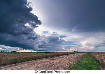 Image of dark Storm clouds in Lithuania