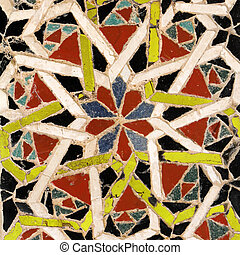 image of detail from antique mosaic paviment in cathedral of Amalfi, Campania, Italy, Europe