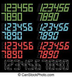digital number vector - image of digital number vector...