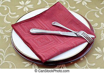 dinner table place setting