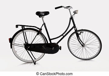 Dutch bicycle - image of Dutch bicycle on white background