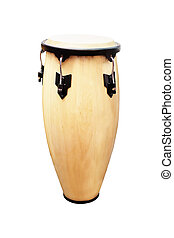 image of ethnic african drum under the white background