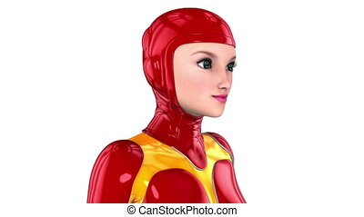 android - image of female android.