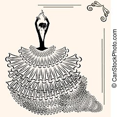 image of flamenco dancer