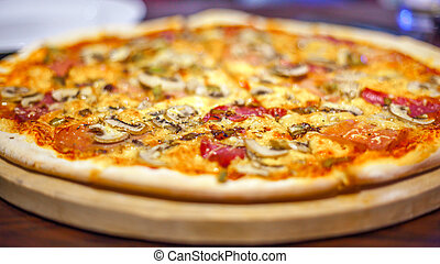 Image of fresh italian pizza