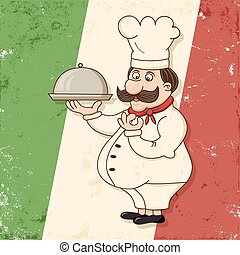 italian chef - image of funny italian chef character with ...