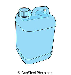 gallon plastic vector - image of gallon plastic vector...