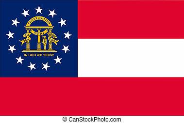image of Georgia State flag.