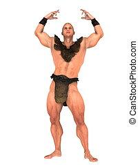 gladiator - image of gladiator. The man is CG.