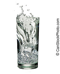 glass of water with splash