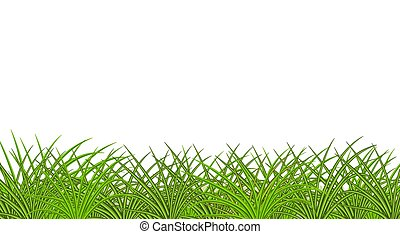 Image of green realistic grass. Profile view. Lawn. ...
