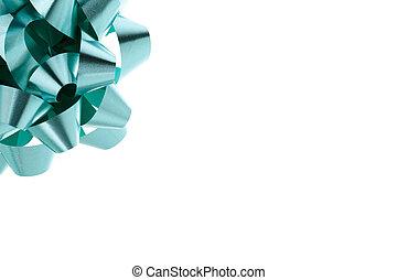green swirl bow