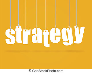Strategy - Image of hanging text with the concept...