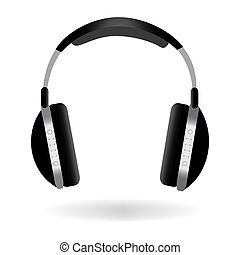 Image of headphones isolated on a white background.