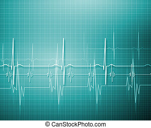 Image of hearbeat - Image of heart beat picture on a colour ...
