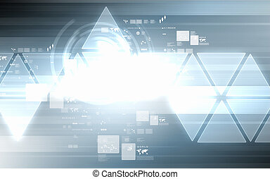Image of hightech background - image of hightech background...