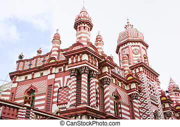 Jami-Ul-Alfar Mosque, Colombo, Sri Lanka - Image of...