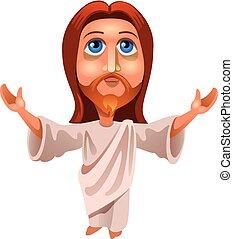 image of jesus - vector illustration of Jesus Christ on a...