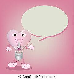 light bulb with Speech Bubble vecto