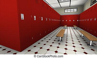 locker room - image of locker room