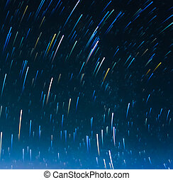 image of Long exposure star trails. - image of Long exposure...